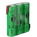 NIMH-R6-321-GO - NiMH Baterija 3,6V 2100A sa lemnim ušicama